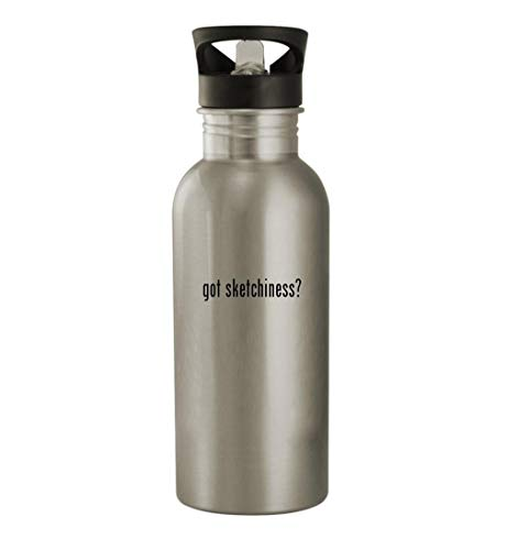 got sketchiness? - 20oz Stainless Steel Water Bottle, Silver