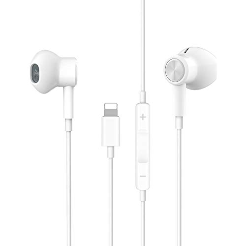 Headphones for i Phone i Pad, Phone 11 Headphones Wired in Ear Magnetic Earbuds with Mic & Volume Control, Phone xr Headphones Compatible with iPhone X,XS,XS MAX,XR,8,8P,7/7P,iPad Pro,iPad Air,iPad
