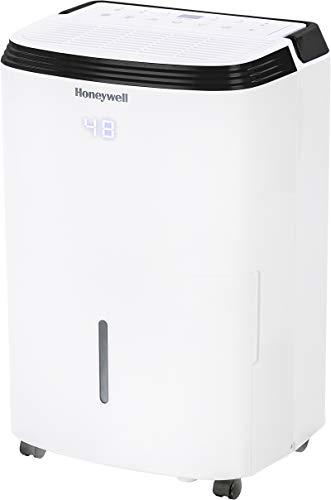 Honeywell Medium Basement & Room Up to 3000 Sq. Ft, TP50AWKN Smart Wi-Fi Energy Star Dehumidifier, 50 Pint, White