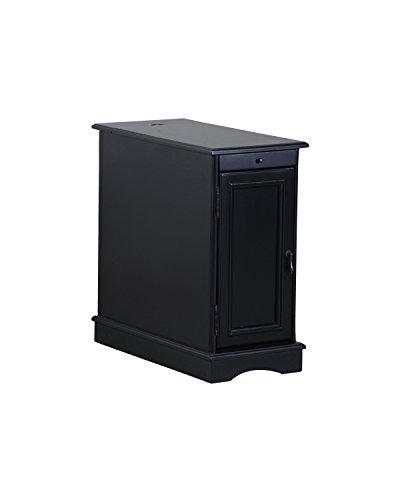 Powell Furniture Butler Accent Table, Black, Small,