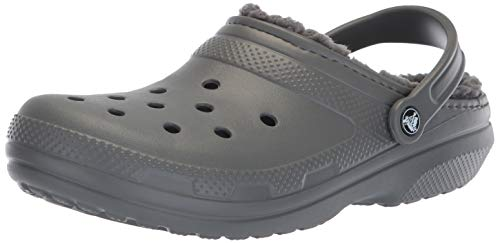 Crocs Classic Lined Clog, slate grey/smoke, 9 US Women / 7 US Men