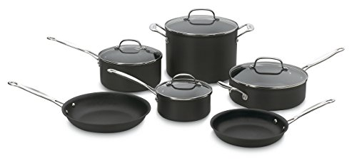 Cuisinart Chef's Classic Nonstick Hard-Anodized 10-Piece Cookware Set