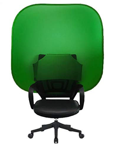 Portable, Collapsible Webcam Background | Video Chat | Web Conference | Green Screen for Chair | Work from Home | Zoom Virtual Background | Skype | Teams