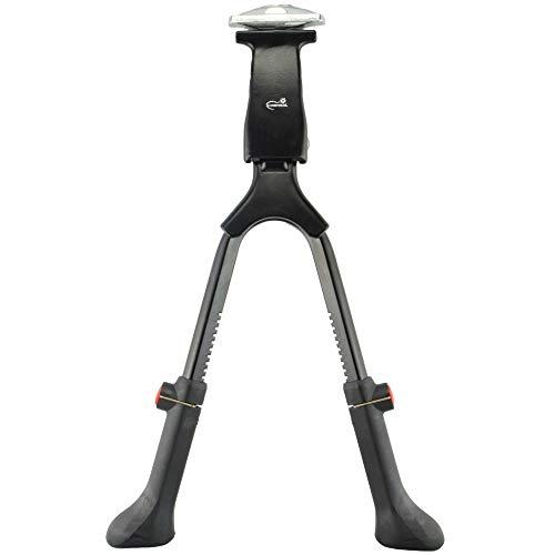 Lumintrail Center Mount Double Leg Bicycle Kickstand Adjustable Aluminum Alloy Bike Stand fits 24'-28' (Black)