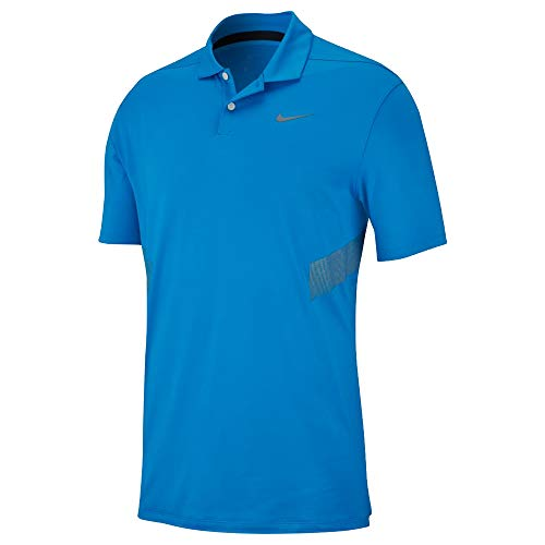 Nike Dri Fit Vapor Reflect Golf Polo 2019 Photo Blue/Reflective Silver Large