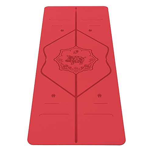 Liforme Year of The Pig Yoga mat – Patented Alignment System, Warrior-Like Grip, Non-Slip, Eco-Friendly, Biodegradable, Sweat-Resistant, Long, Wide and Thick for Comfort– Special Edition Pig - Red
