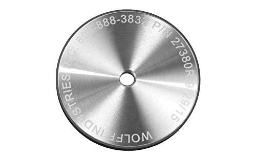 Wolff Twice as Sharp and Ookami Gold Wheels - Professional & Industrial Honing, Diamond, Polishing Wheels. 5' Wheels fit Wolff Scissor Sharpening Machines (400 Grit Diamond Wheel)