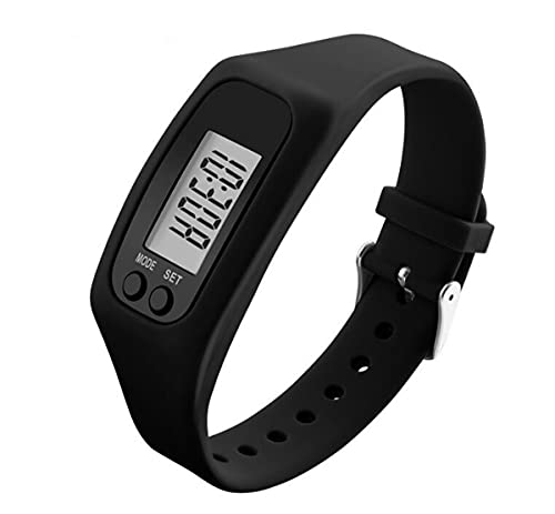 FormVan Fitness Tracker Pedometer Watch for Walking Running Step Calorie Counter for Men Women Kids, Black