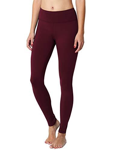BALEAF Women's Fleece Lined Winter Leggings Thermal Yoga Pants Inner Pocket Ruby Wine Size M