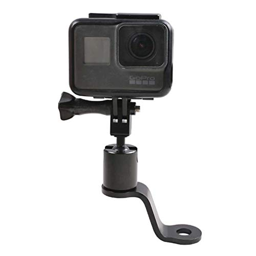 PCTC Motorcycle Bike Handlebar Mount Camera 360 Degree Rotation Fixing Bracket for GoPro Hero 9/8 / 7/6 / 5/4 DJI OSMO Action OSMO Pocket Sports Camera Riding Rearview Accessories,Metal Base