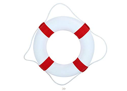50cm Diameter Child Adult Swim Foam Ring Buoy Swimming Pool Life Preserver for Outdoor Travel and Hoom