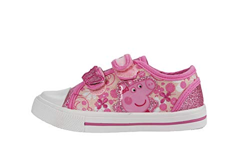 Girls Peppa Pig White/Pink Trainers UK Infant Sizes 8