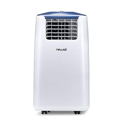 newair AC-14100H Portable Air Conditioner and Heater, Standard, White and Blue