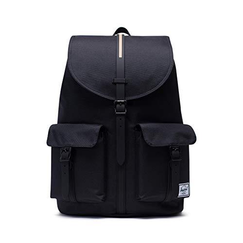 Herschel Dawson Backpack, Black/Gold Rubber Insert, Classic 20.5L