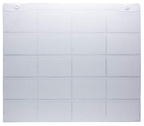 ProSimpli 3' x 5' Index Card Holder Sleeve. 5 Rows 4 Cols, 20 Card Slots, 18'x22'. Hang in the Office, Classroom and Home. Use for Studying, Self-Learning, Tracking Workflow, Presentations, Organizing