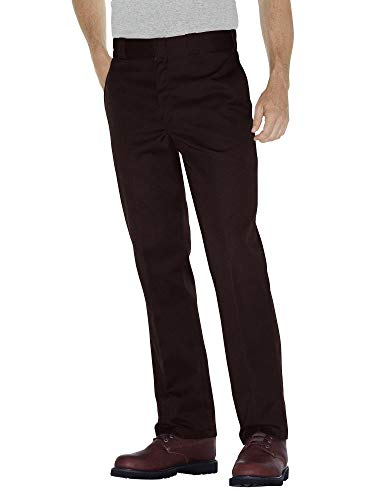 Dickies Men's Original 874 Work Pant, Dark Brown, 32W x 32L
