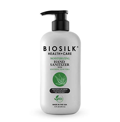 BioSilk Moisturizing Hand Sanitizer With Soothing Aloe Vera, 12 Fl Ounce