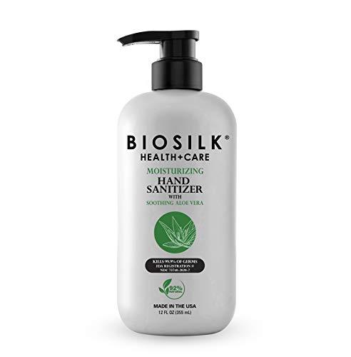 BioSilk Moisturizing Hand Sanitizer With Soothing Aloe Vera, 12 Fl Oz (BSAVHS012A)