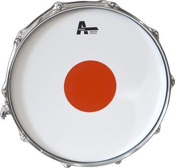 Attack Drumheads The Baron Snare Drum Head With Red Power Dot 14' Snare Head No overtone