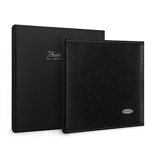 Magicfly Magnetic Self Stick Photo Album, 12. 5 X 10. 7 Inch, Large Leather Family Photo Albums  for 3x5, 4x6, 5x7, 6x8, 8x10 Photos, ( 30 Sheet, 60 Pages), Black