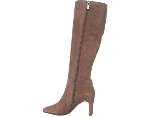 Bandolino Womens Lamari Leather Almond Toe Mid-Calf, Dark Natural, Size 6.5
