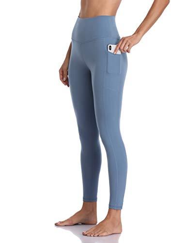 Colorfulkoala Women's High Waisted Yoga Pants 7/8 Length Leggings with Pockets (M, Steel Blue)