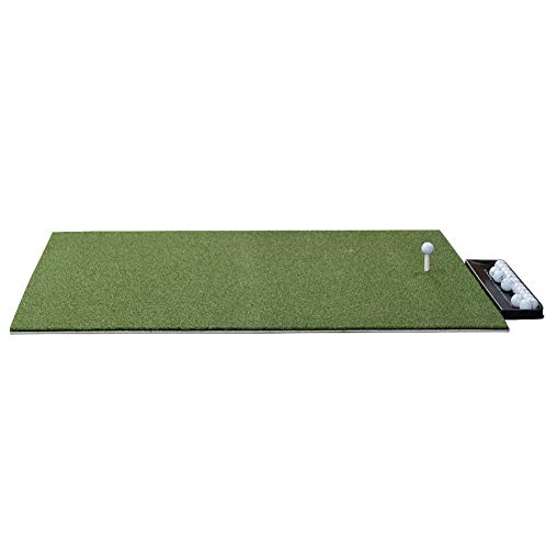 Dura-Pro Residential Golf Mat Premium Portable Turf. Includes Golf Tray and 3 Rubber Tees. Practice Hitting/Chipping Indoors or Outdoors Home Use, Backyard (4x5 Feet) Ball Tray Ships 3-5 Weeks Later