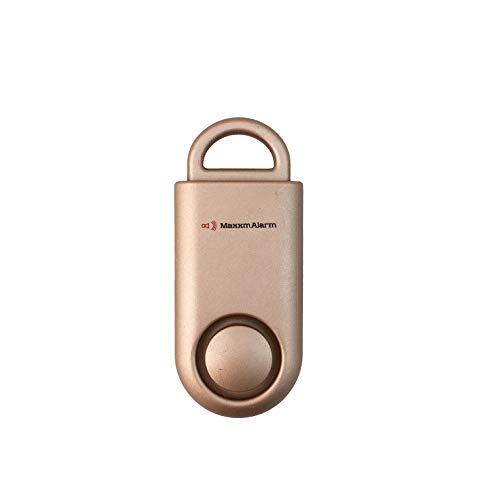 MaxxmAlarm SOS Alert Personal Alarm - 130dB Alarm - Safety & Security Emergency Device - Matte Rose Gold