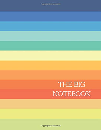 THE BIG NOTEBOOK: Vintage-Rainbow Composition Notebook,Extra Large Notebook 8.5 x 11 ,590(Lined) Ruled Pages,Big-Giant Notebook