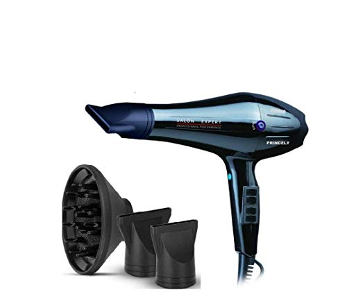 Princely 1875W(2300wattage) Professional Hair Dryer/120KM/H airflow speed/3 Heat 2 Speed Setting/Tourmaline Ionic Ceramic Hair Blow dryer AC Motor Hair Blower
