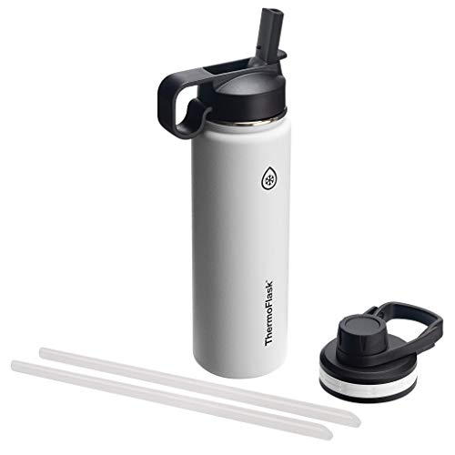 Thermoflask Double Stainless Steel Insulated Water Bottle, 24 oz, White