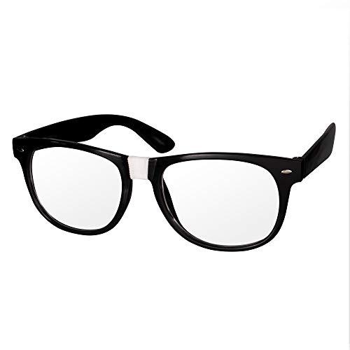 Black Frame Nerd Costume Glasses - 12 Pack