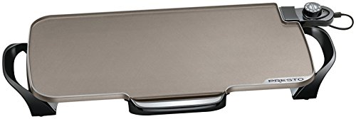 Presto Ceramic 22-inch 07062 Electric Griddle with removable handles, Black, One Size