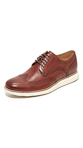 Cole Haan Men's Original Grand Shortwing Oxford Shoe, woodbury leather/ivory, 8 W US