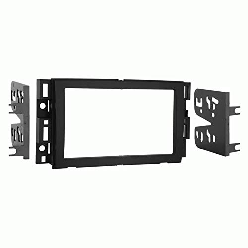 Carxtc Double Din Install Car Stereo Dash Kit for a Aftermarket Radio Fits 2007-2013 Chevy Avalanche and Silverado Trim Bezel is Black