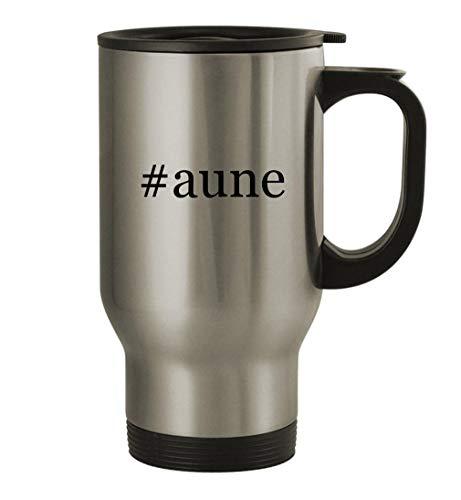#aune - 14oz Stainless Steel Travel Mug, Silver