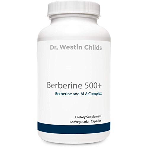Dr. Westin Childs | Berberine 500+ Powerful Berberine + ALA Complex for Metabolism, Weight Loss, and Appetite Control - 120 Capsules for 30-60 Day Supply - Non GMO