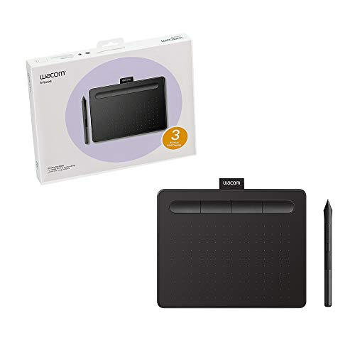 Wacom Intuos Graphics Drawing Tablet for Mac, PC, Chromebook & Android (small) with Software Included - Black (CTL4100)
