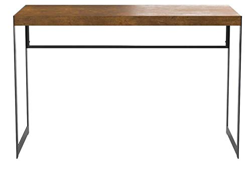 Estrella Writing Desk with Metal Frame Antique Nutmeg and Gunmetal