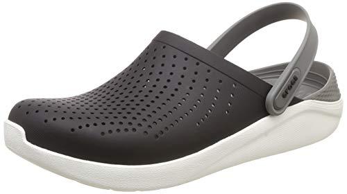 Crocs Men's and Women's LiteRide Clog, Casual Athletic Shoe with Extraordinary Comfort Technology, Black/Smoke, 9 US Women / 7 US Men