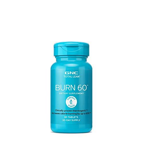 GNC Total Lean Burn 60 Thermogenic Fat Burner, Cinnamon, 60 Count, For Calorie Burning