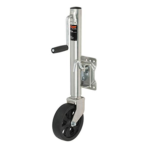 CURT 28116 Marine Boat Trailer Jack with 8-Inch Wheel, 1,500 lbs. 11 Inches Vertical Travel