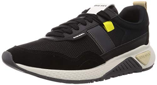 Diesel Men's Fashion Sneaker, Black/Anthracite, 8.5
