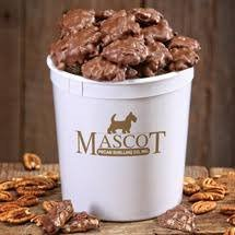 Mascot Nut Candy Since 1955 - Pecan Clusters Smooth Milk Chocolate, Caramel, and Pecans 2 Pounds - Individually wrapped - Gift Box and Resealable Tub