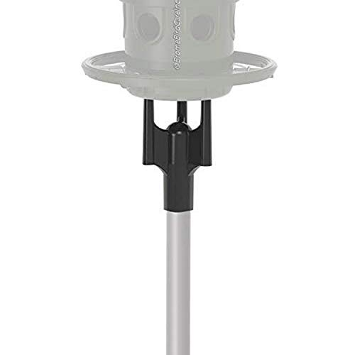 Squirrel Buster Pole Adaptor for Pole Mounting a Squirrel Buster Plus Bird Feeder, Black (FEEDER NOT INCLUDED), 1-inch external diameter