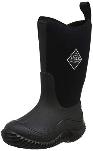 Muck Boots Hale Multi-Season Kids' Rubber Boot,Black/Black,3 M US Little Kid