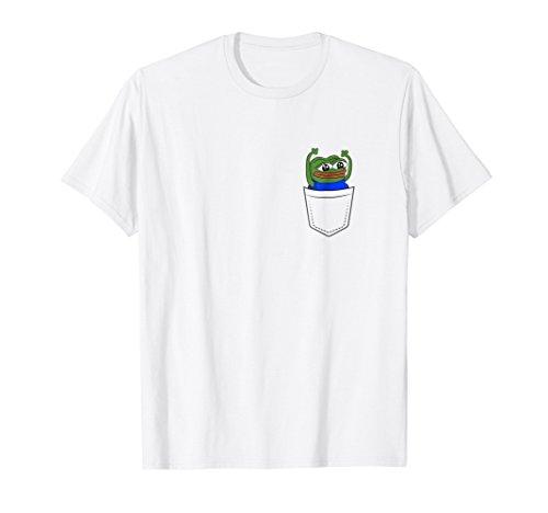 Pocket HYPERS Happy Pepe T-Shirt - Livestream Chat Meme