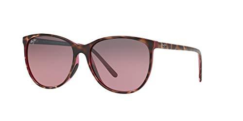 Maui Jim Women's Ocean Polarized Cat-Eye Sunglasses, Tortoise W/Raspberry, with Patented PolarizedPlus2 Lens Technology
