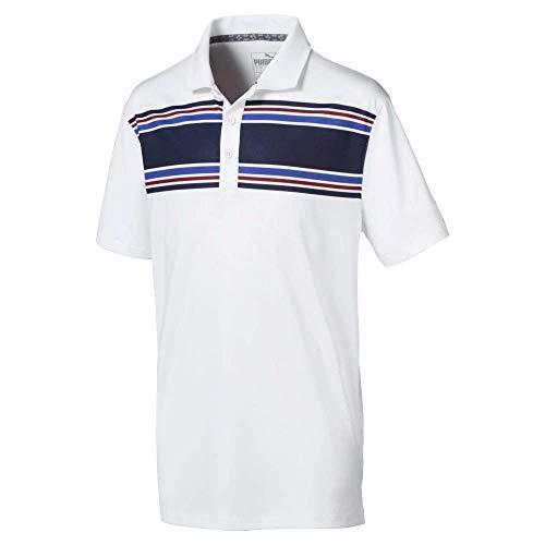 Puma Juniors Montauk Golf Polo Bright White/Peacoat Large