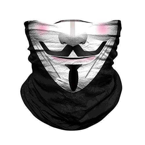 JOEYOUNG Motorcycle Skull Face Sun Mask Rinding 3D Neck Gaiter Bandanas Headwear